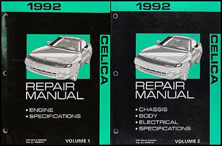 1992 toyota celica repair shop manual original 2 volume set rh faxonautoliterature com 1991 Toyota Celica 1992 Toyota Celica
