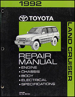 1992 toyota land cruiser repair shop manual original rh faxonautoliterature com Toyota Distributor Wiring Diagram Toyota Distributor Wiring Diagram