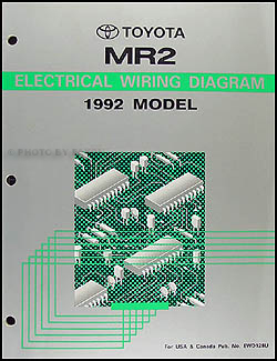 1992 toyota mr2 wiring diagram manual original rh faxonautoliterature com 1992 toyota mr2 radio wiring diagram 1987 Toyota MR2 Radio Wiring