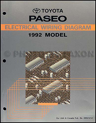 1992 Toyota Paseo Wiring Diagram Manual Original