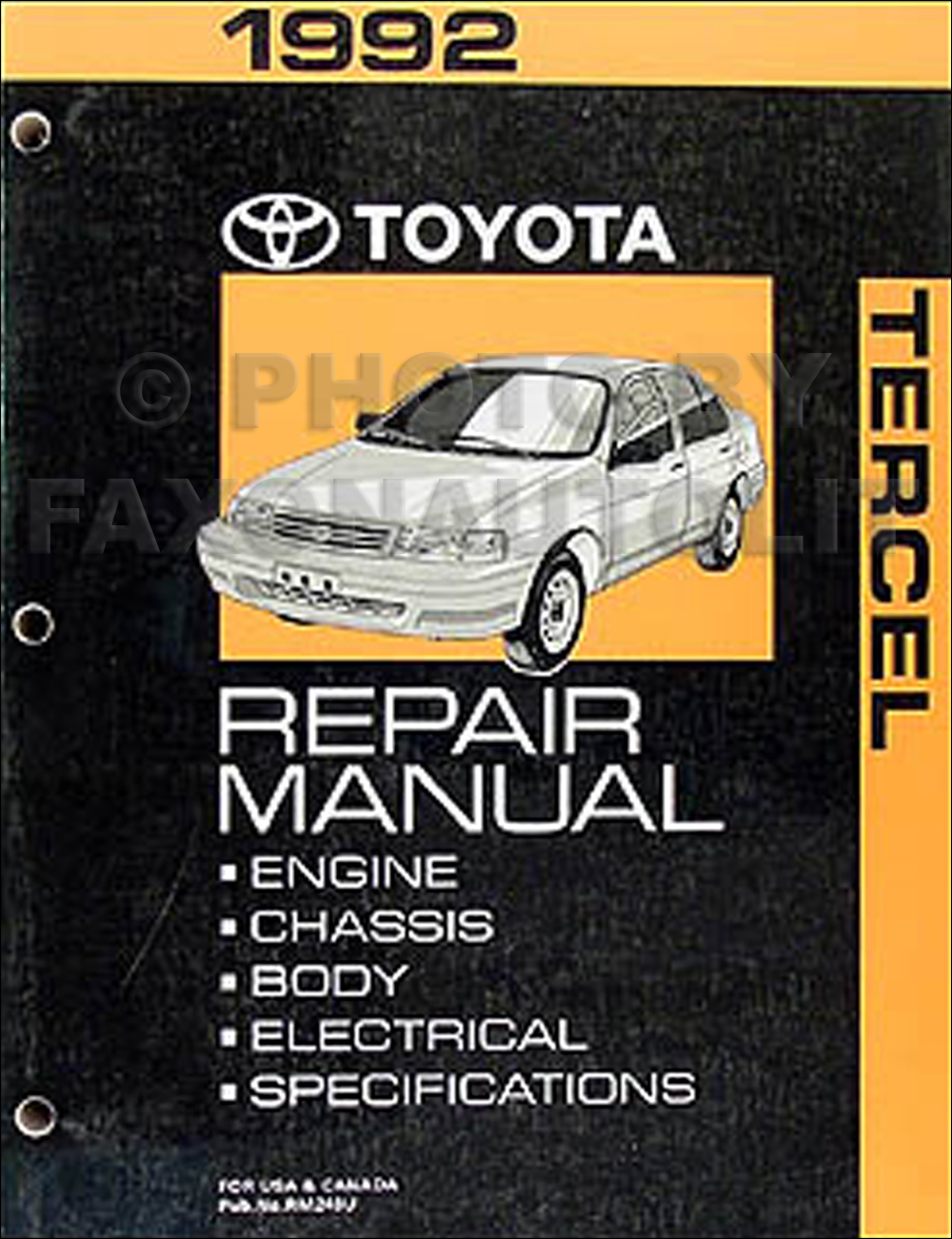 1992ToyotaTercelORMResized 1992 toyota tercel wiring diagram manual original 90 Toyota Paseo at edmiracle.co