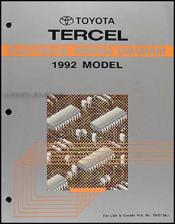 1992 toyota tercel wiring diagram manual original rh faxonautoliterature com Toyota Truck Wiring Diagram Toyota Sequoia Wiring-Diagram
