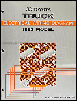 1992 toyota truck wiring diagram manual original rh faxonautoliterature com 1992 toyota truck wiring diagram