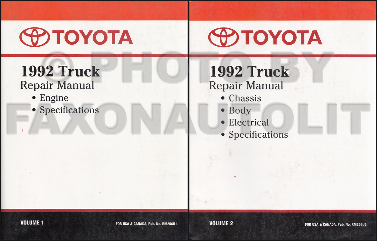 1992 Toyota Truck Wiring Diagram Manual Original