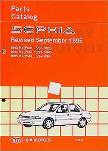 1993 1995 kia sephia parts book original for Kia motors parts catalog