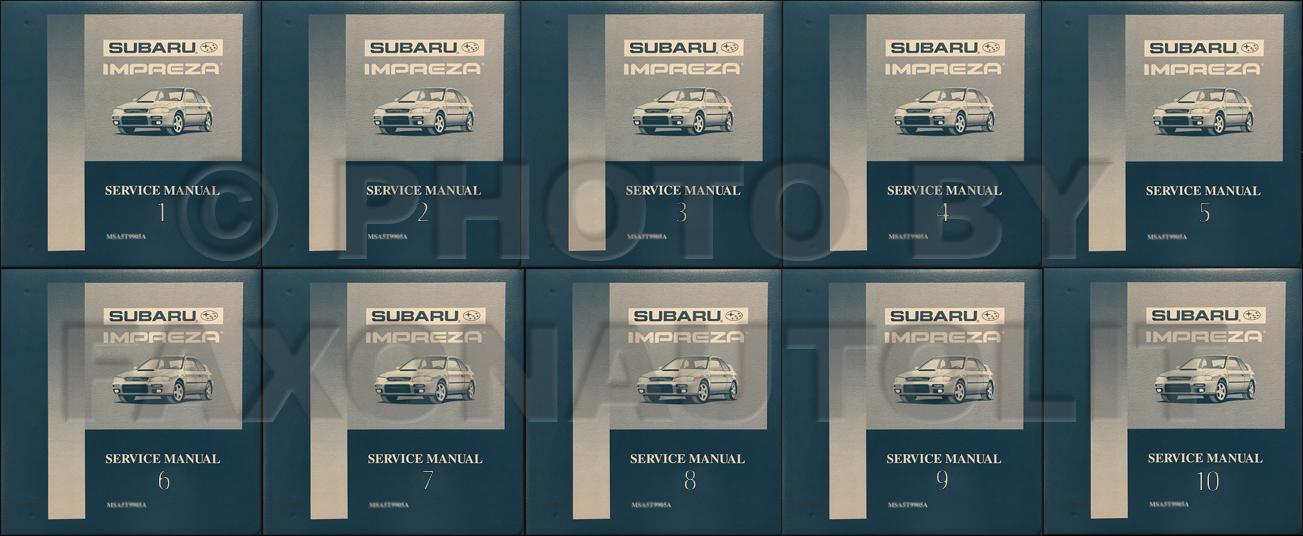 1993 1998 subaru impreza repair shop manual 10 volume set original rh faxonautoliterature com 1999 Subaru Impreza WRX STI 1999 Subaru Impreza WRX STI