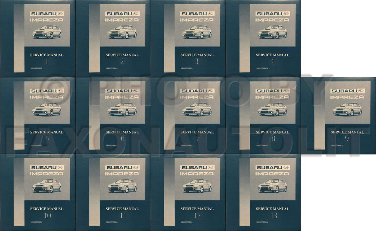 1995-1999 Subaru Legacy Repair Manual 12 Volume Set Original Binders