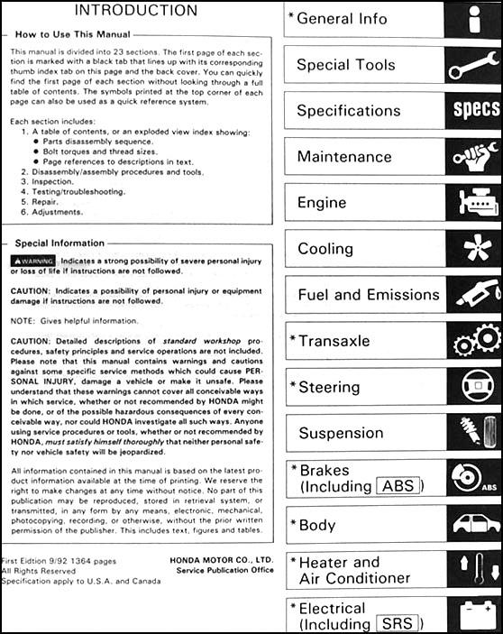 91 acura integra service manual pdf