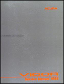 Acura Vigor on 1993 Acura Vigor Repair Shop Manual Original