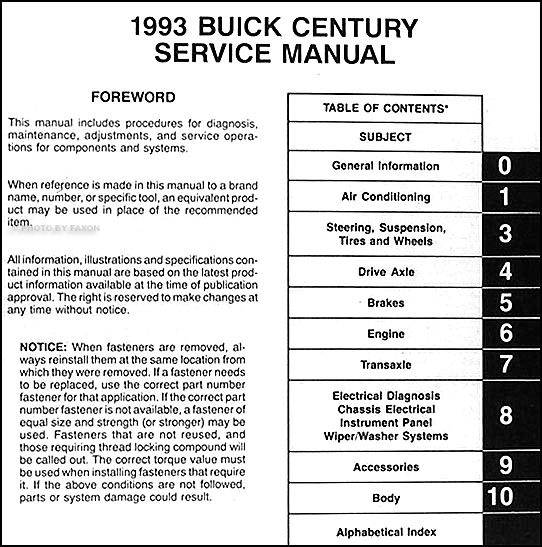 1993 buick century repair shop manual original 2000 Buick Century Engine Diagram  1996 Buick Century Wiring-Diagram Buick Century Radio Wiring Diagram 93 Ford Tempo Wiring Diagram