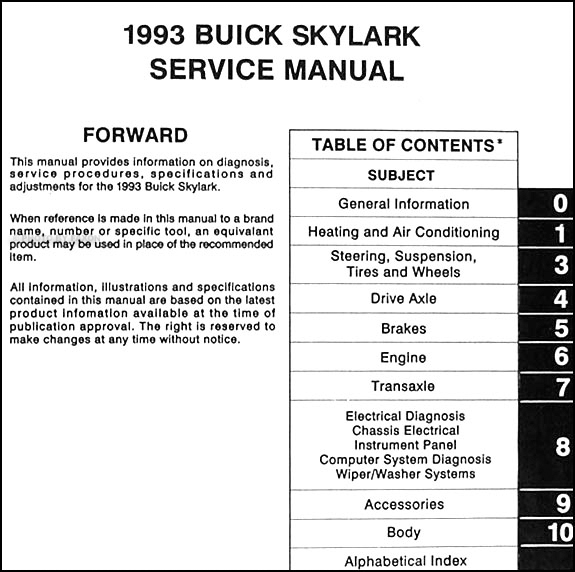 service manual 1993 buick lesabre fuse manual service. Black Bedroom Furniture Sets. Home Design Ideas