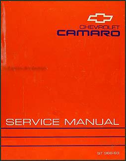 1993 chevy camaro repair shop manual original rh faxonautoliterature com 1995 Camaro 1991 Camaro