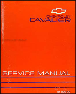 1993 chevy cavalier repair shop manual original Chevrolet Cavalier Z24 2004 Chevrolet Cavalier Problems