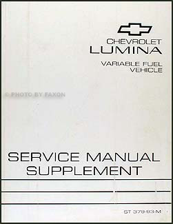 1993 chevy lumina car variable fuel (ethanol) repair shop manual.