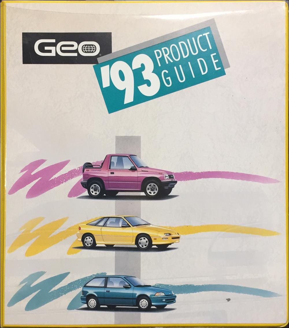 1993 Geo Metro Repair Shop Manual Original