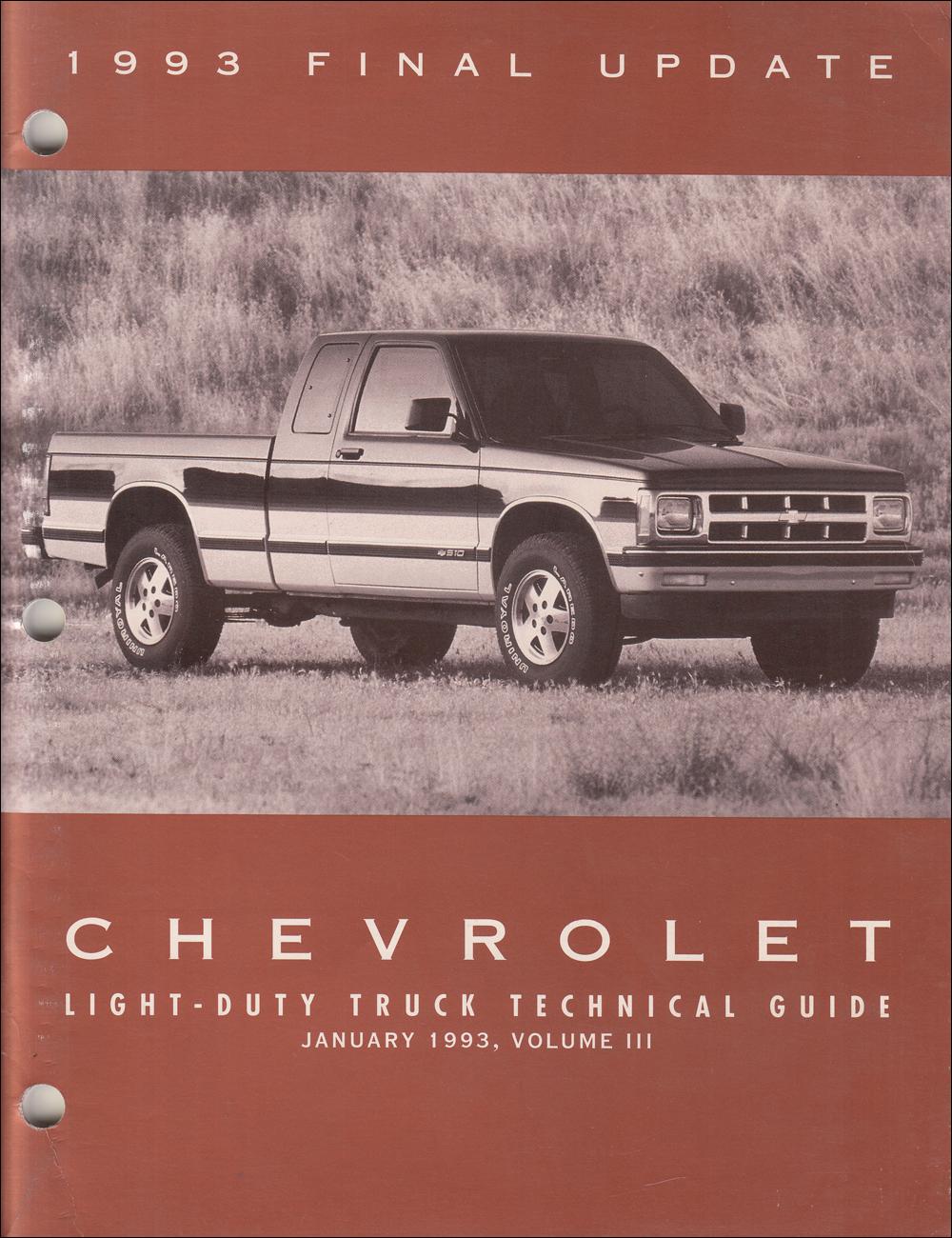1993 Chevy C/K Pickup, Suburban, Blazer Wiring Diagram ...