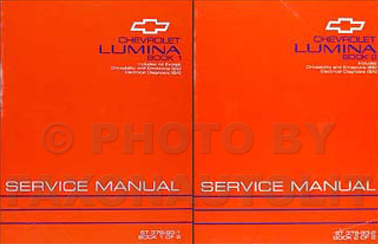 1993 chevy lumina car shop manual set 93 euro z34 chevrolet repair.