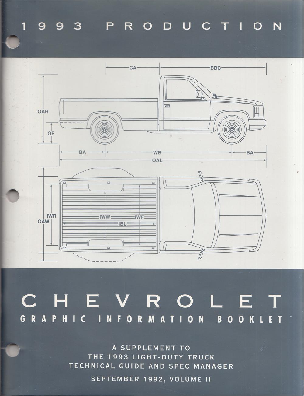 1993 Chevy C  K Pickup  Suburban  Blazer Wiring Diagram