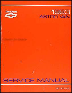 1993 Chevrolet Astro Van Shop Manual Original
