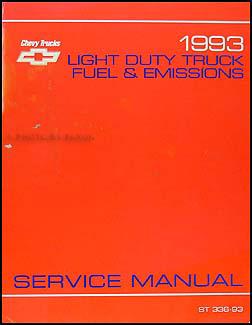 1993 Fuel & Emission Manual CK Pickup Blazer Suburban Astro S/T G P
