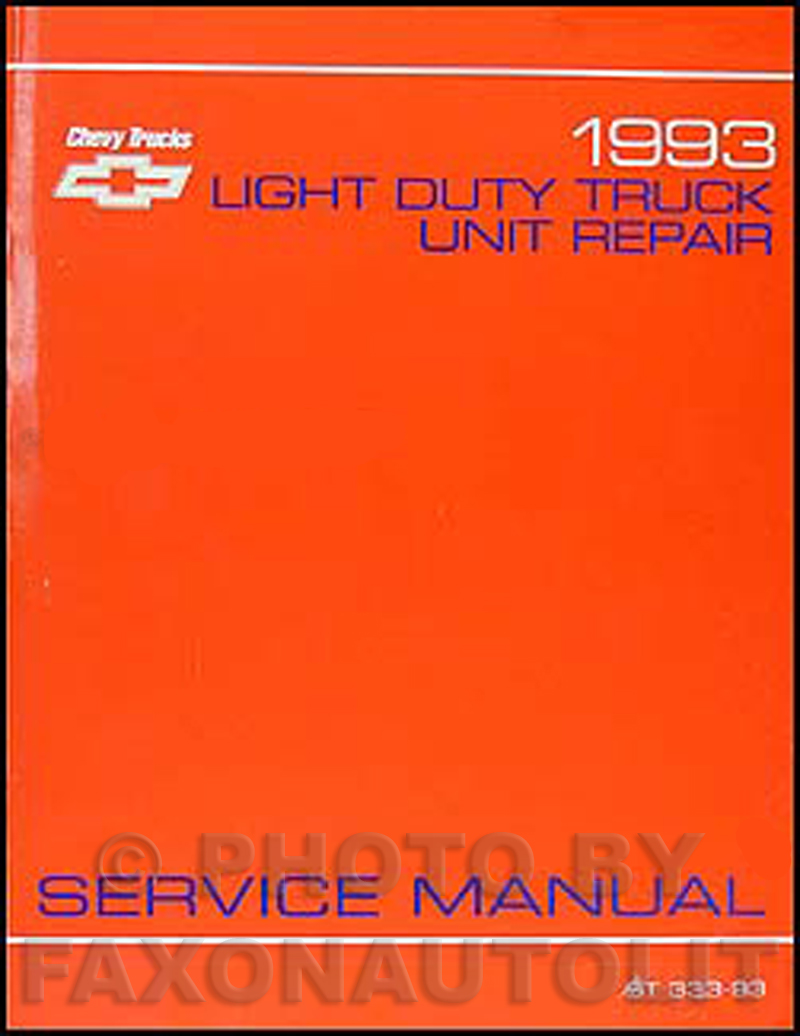 1993 chevy 1 2 3 4 1 ton truck overhaul manual original rh faxonautoliterature com 1992 chevy s10 owners manual 1992 chevy s10 owners manual