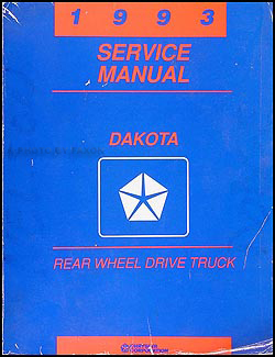 1993 dodge dakota repair shop manual original. Black Bedroom Furniture Sets. Home Design Ideas