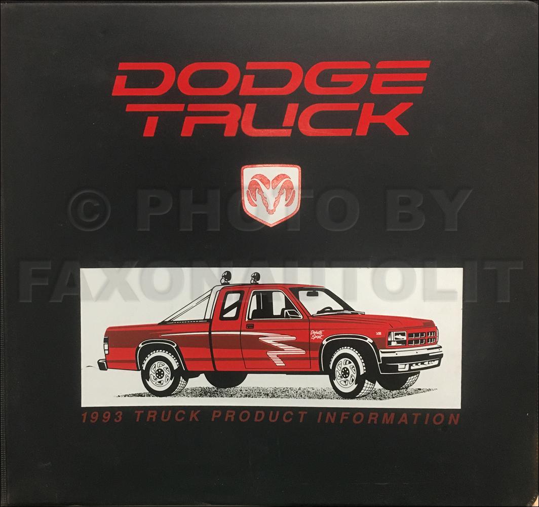 1993 Dodge Truck Data Book And Color & Upholstery Dealer Album