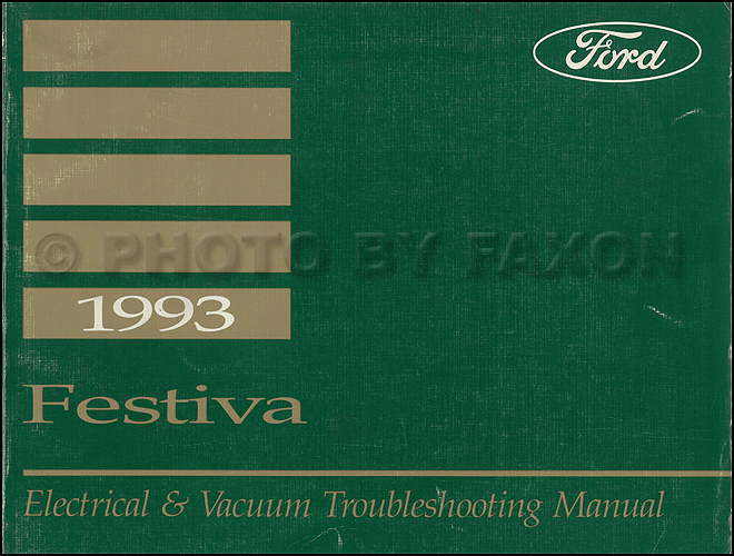 1993 Ford Festiva Original Electrical Vacuum Troubleshooting Manualrhfaxonautoliterature: 1993 Ford Festiva Wiring Diagram At Gmaili.net