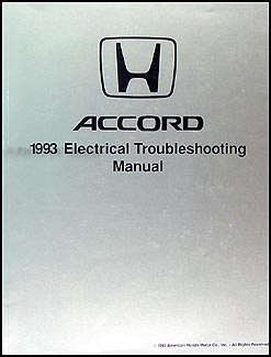 1993 Honda Accord Electrical Troubleshooting Manual Original