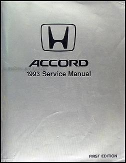 1993 Honda Accord Repair Manual Original