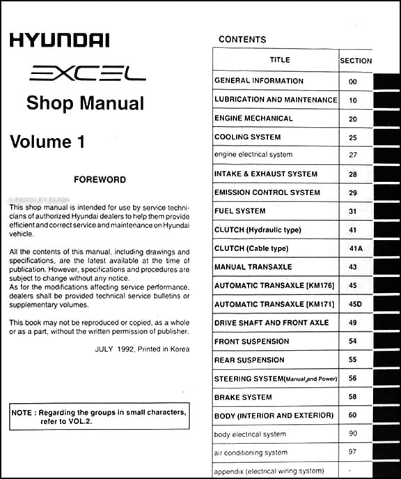 1993 hyundai excel wiring diagram - somurich.com hyundai accent fuse box diagram wiring schematic #5
