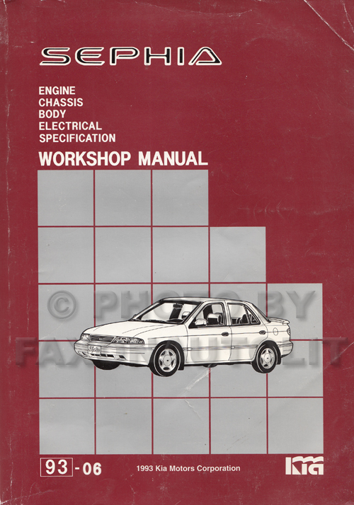 1993 kia sephia repair shop manual original rh faxonautoliterature com 98 Kia 4 Speed Manual Kia Rio Repair Manual