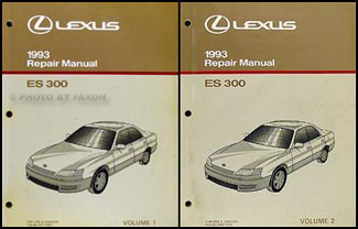 1993 lexus es 300 repair shop manual original 2 volume set rh faxonautoliterature com repair manual for 1992 lexus ls 400 93 Lexus ES300 Repair Manual