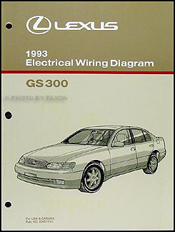 1993 lexus gs 300 wiring diagram manual original rh faxonautoliterature com 1998 Lexus LX470 Wiring 93 lexus gs300 radio wiring diagram