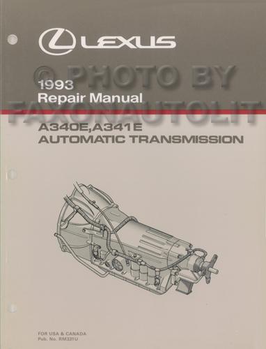 1993 Lexus Es 300 Sc 300  400 Ls 400 Features Manual Original