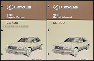 1993 lexus ls 400 repair shop manual original 2 volume set rh faxonautoliterature com repair manual for 1993 lexus ls400 Lexus Manuals Shop