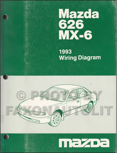 1993 mazda miata wiring diagram    1993       mazda    626 and mx 6    wiring       diagram    manual original     1993       mazda    626 and mx 6    wiring       diagram    manual original