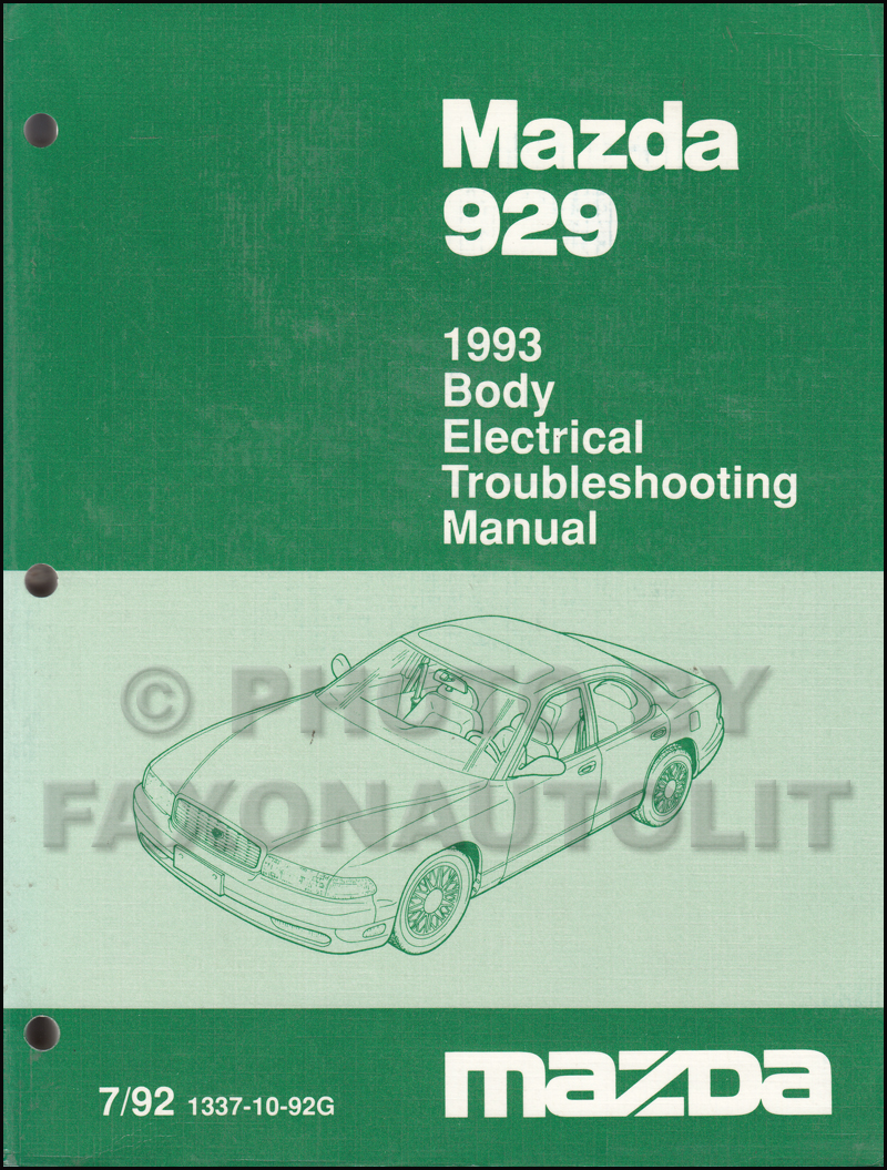 1993 Mazda 929 Repair Shop Manual Original