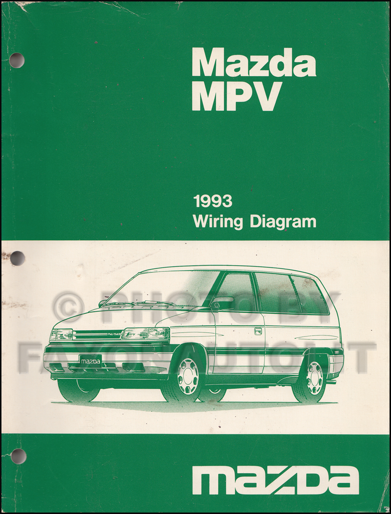 1993 mazda mpv repair shop manual original