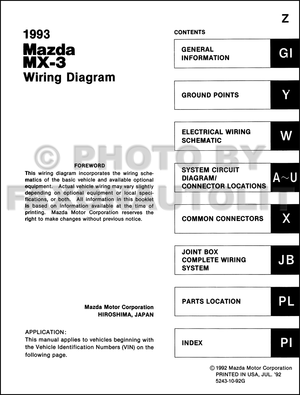 1993 mazda mx 3 wiring diagram manual original click on thumbnail to zoom cheapraybanclubmaster Gallery