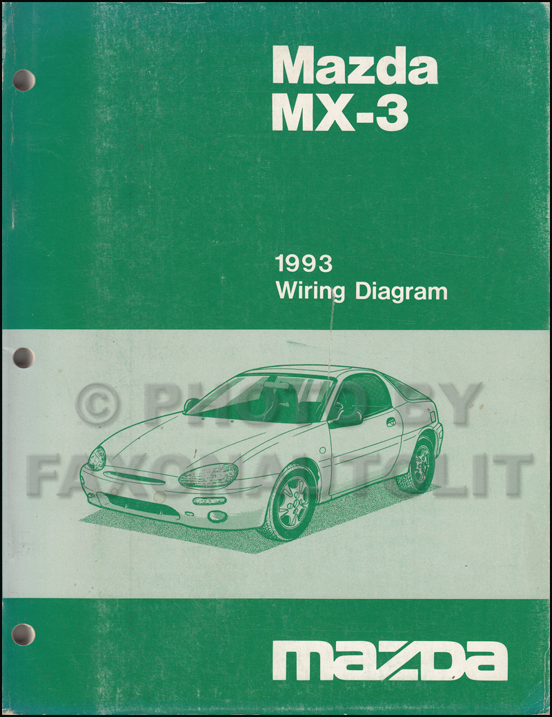 1993 mazda mx 3 wiring diagram manual original rh faxonautoliterature com 1993 mazda mx3 wiring diagram 1993 mazda mx3 radio wiring diagram