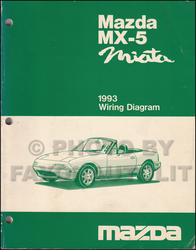 Wiring Diagram For 1993 Mazda Miata House Symbols Nissan 300zx Fuse Box Mx 5 Manual Original Rh Faxonautoliterature Com