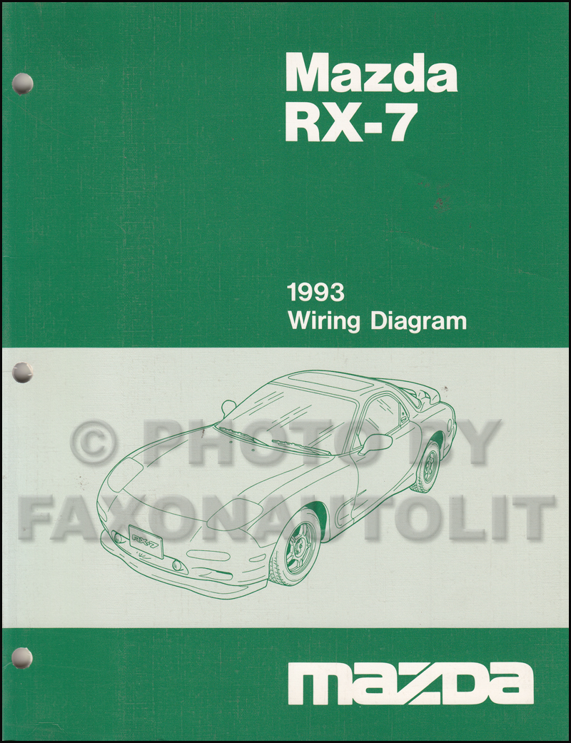1993 mazda rx 7 wiring diagram manual original rx7