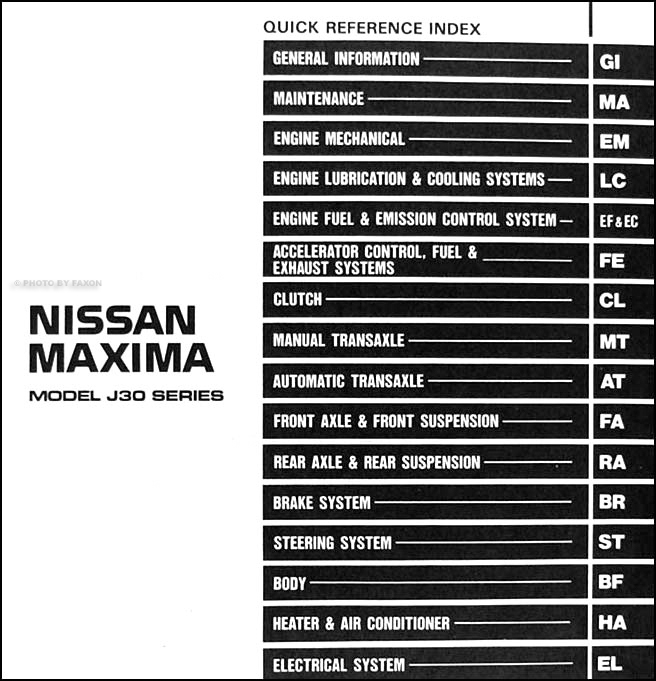 1993 nissan maxima repair shop manual original 1992 Nissan Maxima 1993 nissan sentra repair manual