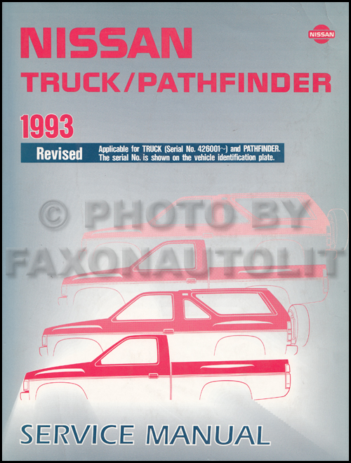 1993 Nissan Truck And Pathfinder Wiring Diagram Manual