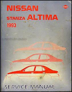 1993    Nissan       Stanza       Altima    Shop Manual Original    Repair