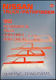 1993NissanTruckWD 1993 nissan truck and pathfinder wiring diagram manual original 1987 nissan pathfinder wiring diagram at creativeand.co