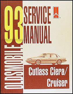1993 oldsmobile cutlass ciera & cutlass cruiser repair shop manual.