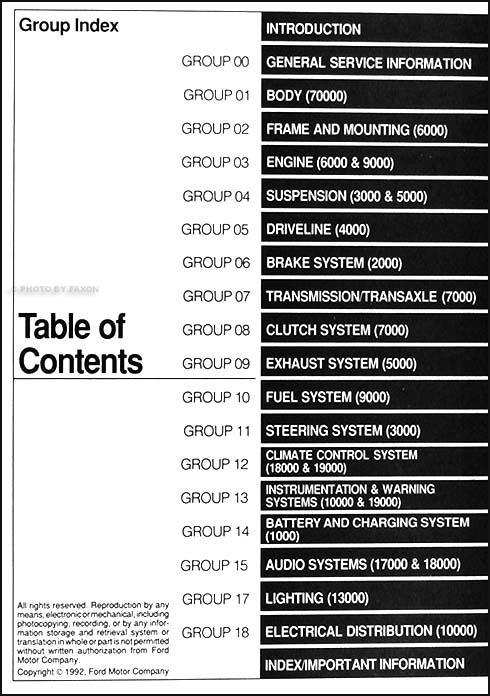 1993 ford tempo repair manual. Black Bedroom Furniture Sets. Home Design Ideas