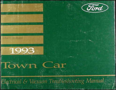 1993 lincoln town car electrical and vacuum troubleshooting manual1993 Lincoln Town Car Wiring Schematic #20
